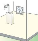 屋内壁掛後方強制排気型